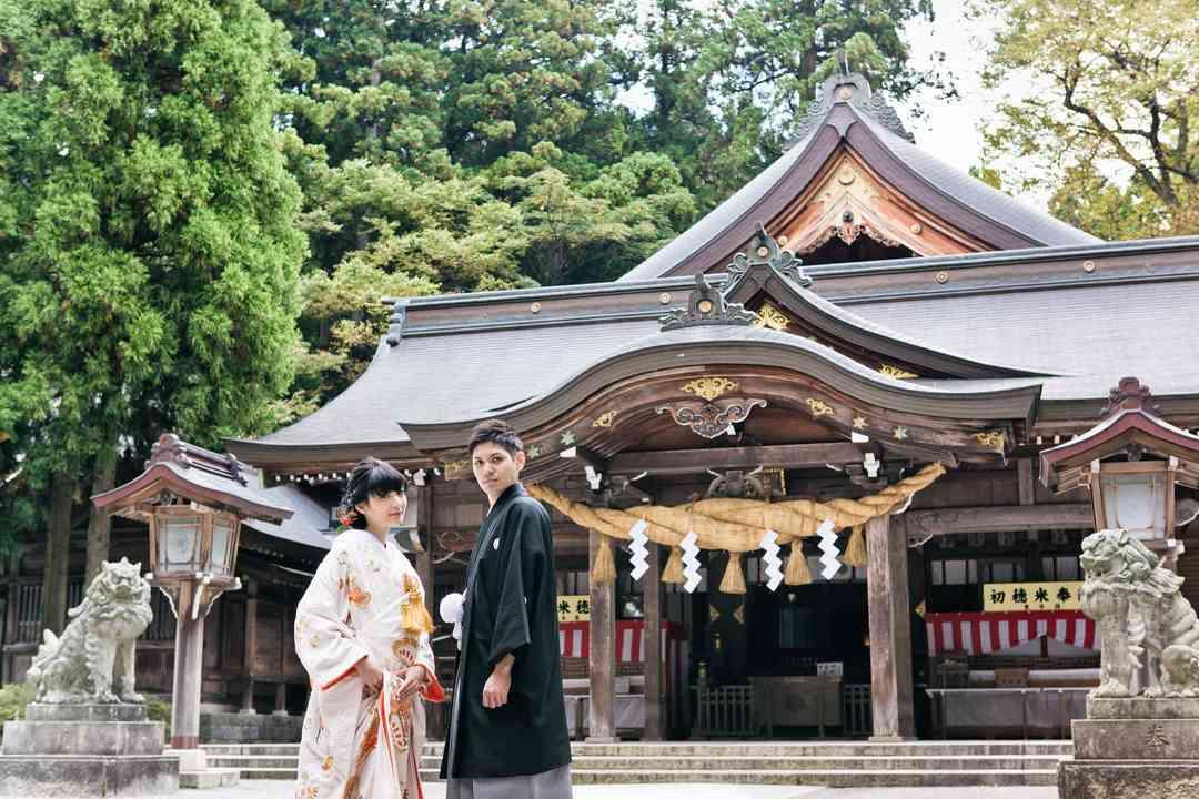 白山比咩神社での挙式