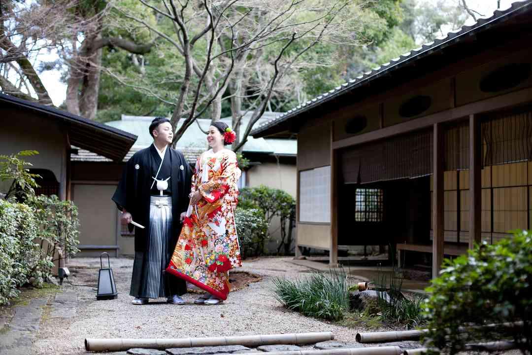 日本庭園内の和食レストラン