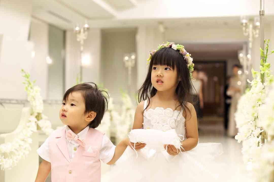 小さなお子様たちもドレスアップ