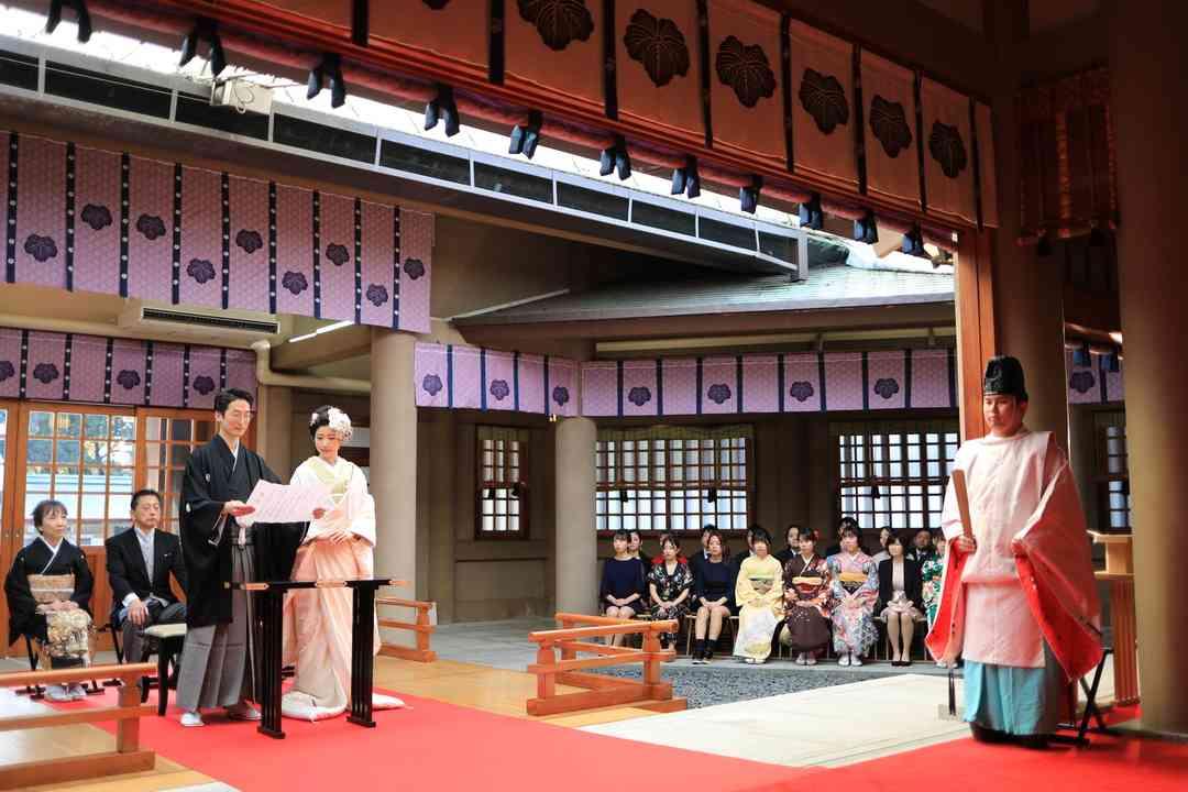 東郷神社での神前式