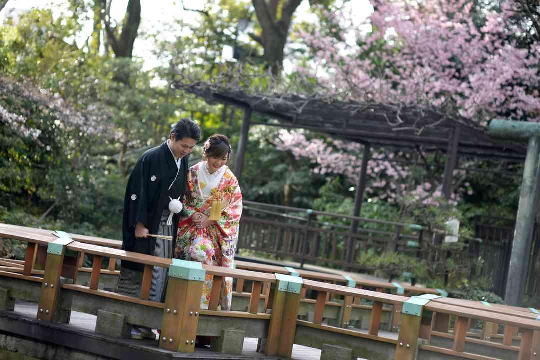 桜の季節・庭園ロケーション
