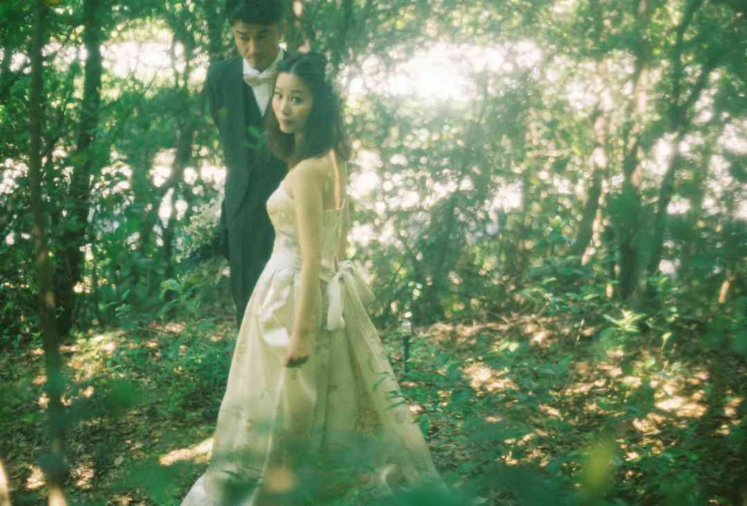 森の中での写真撮影