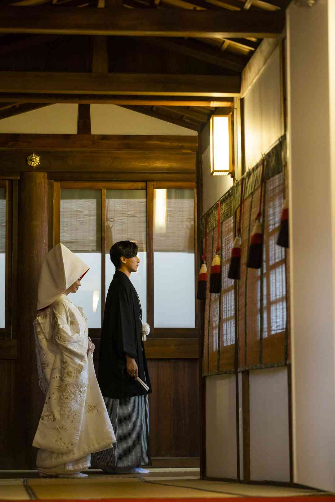 挙式への渡り廊下